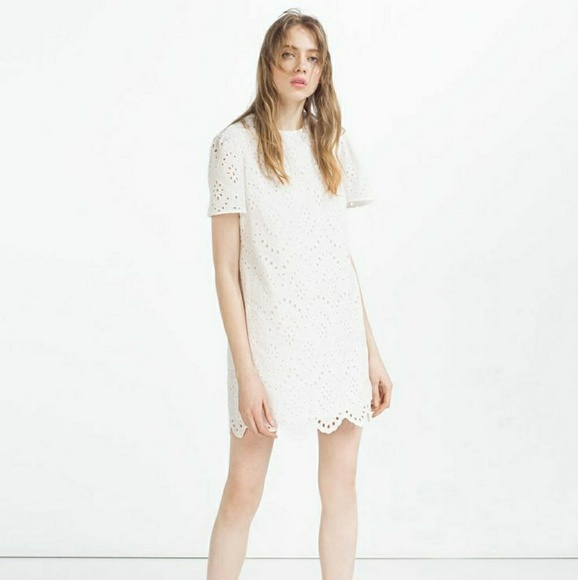 Zara dresses white embroidered dress poshmark m5a7cfe2250687ccf6af45eff mightylinksfo